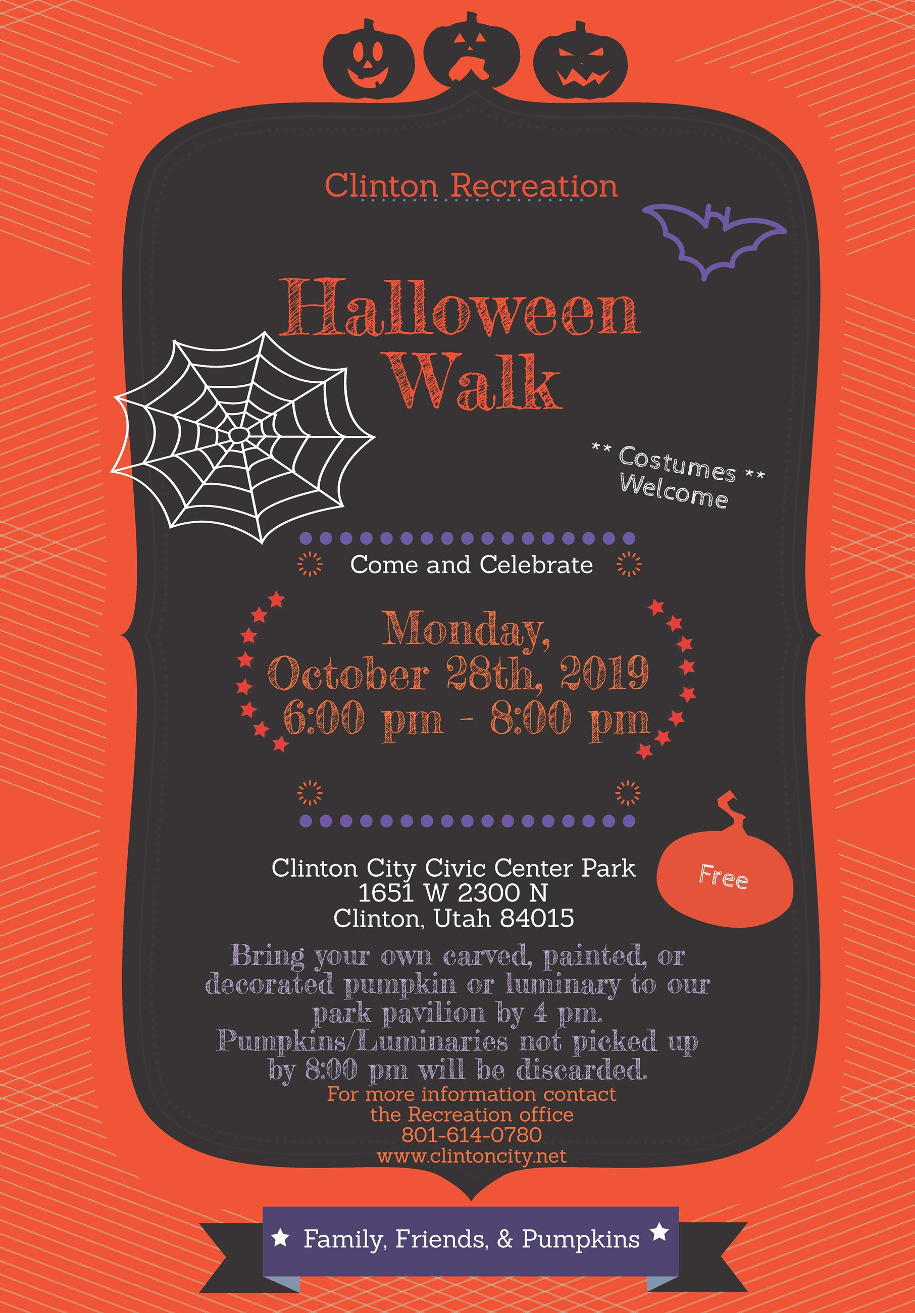 2019 Halloween Walk Flyer